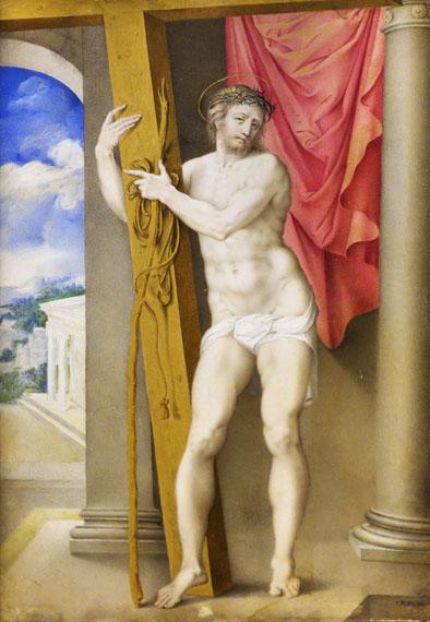 Resurrected Christ by Giulio Clovio, 1550