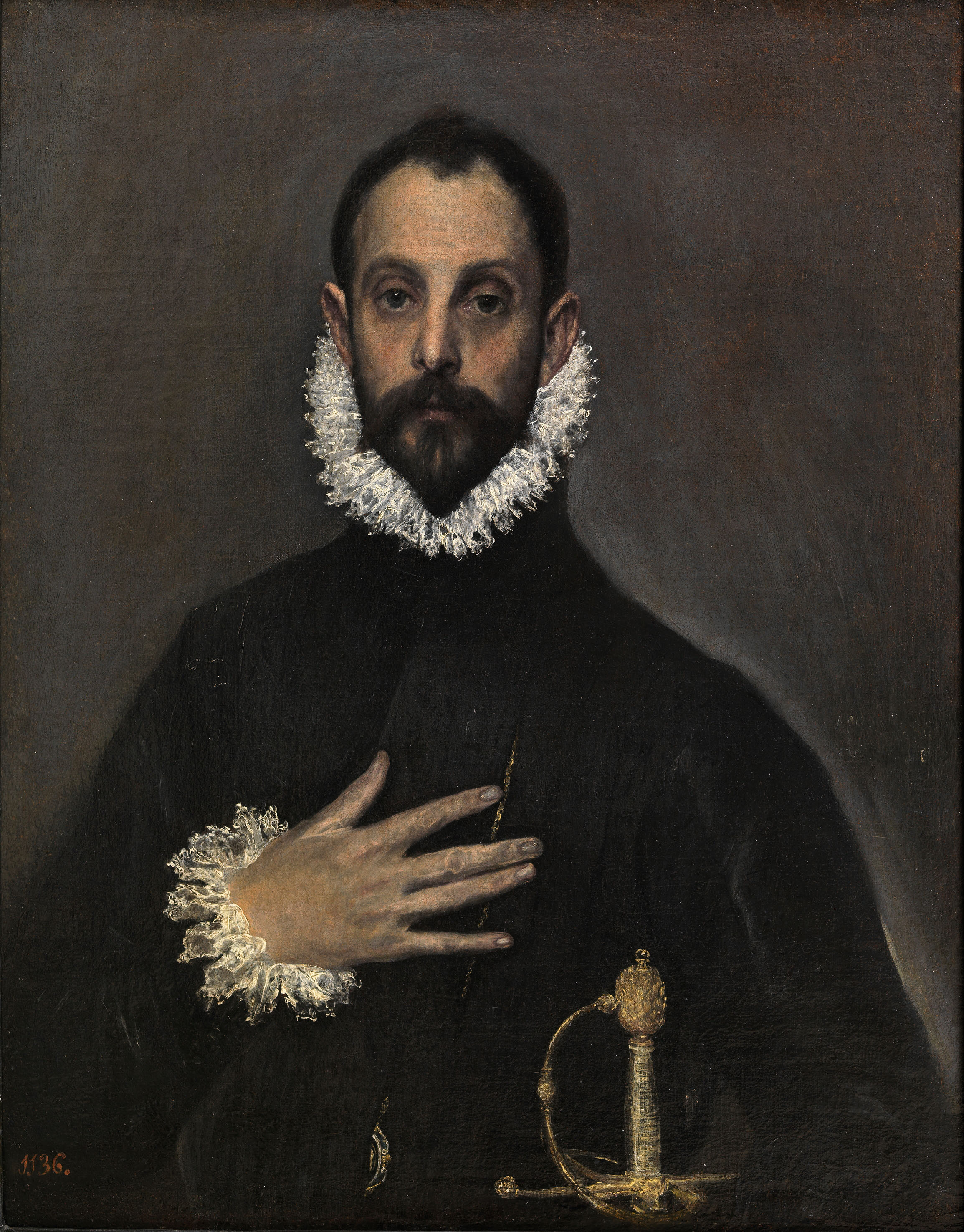 Nobleman with his Hand on his Chest, El Greco