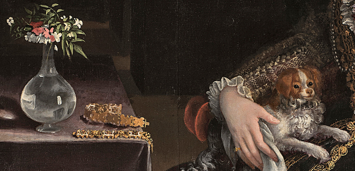 detalle lady with dog